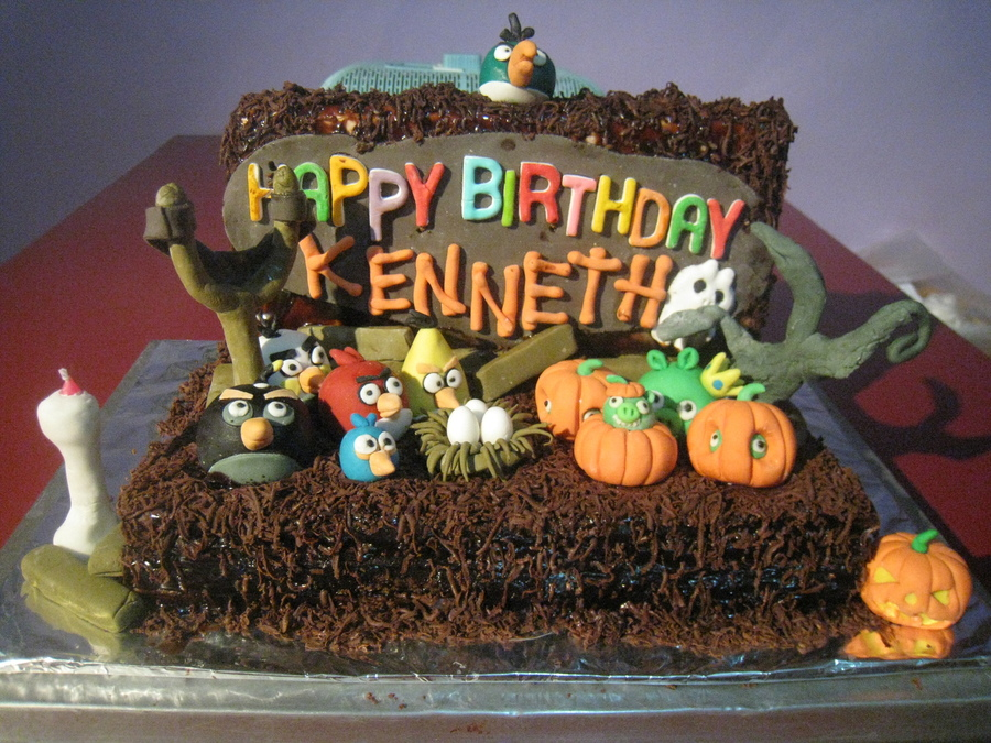 Angry Bird Halloween Theme on Cake Central