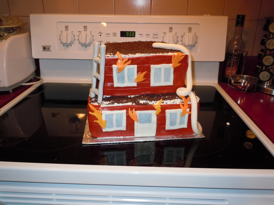 House Fire Cake on Cake Central