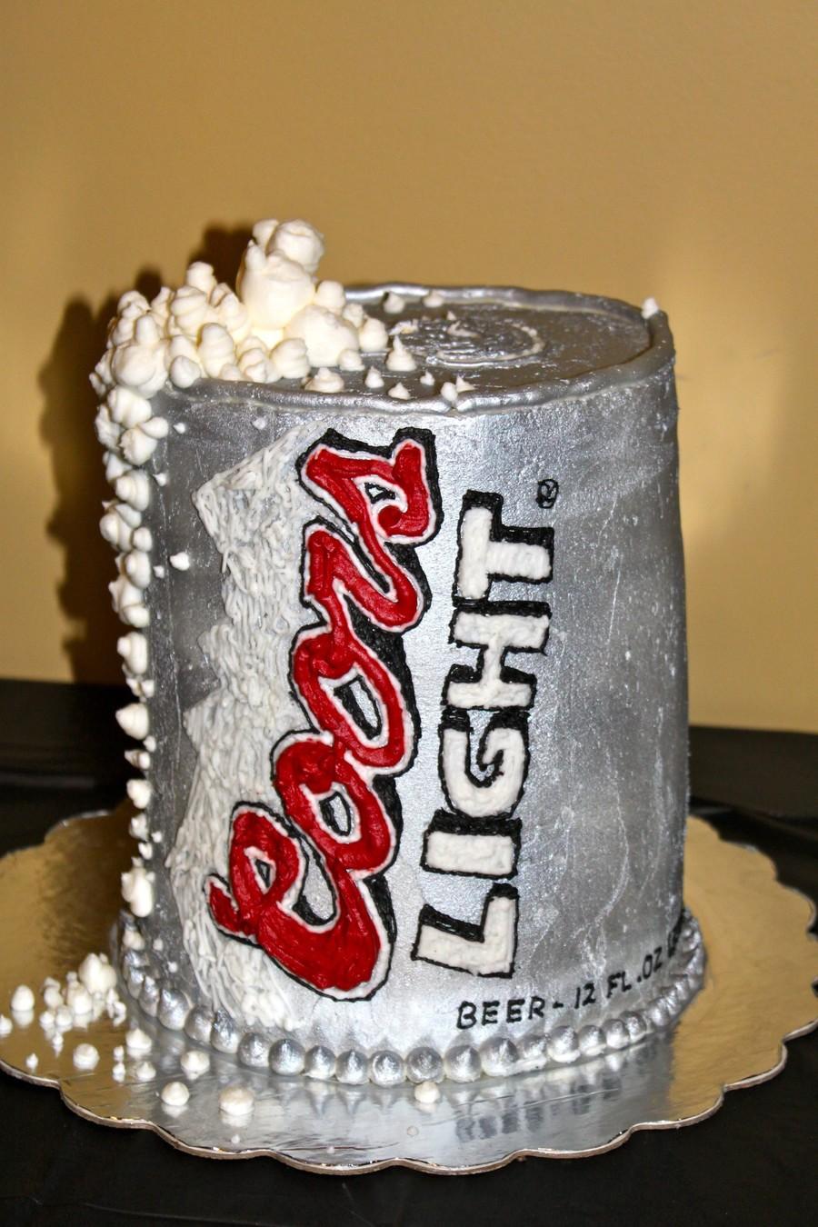 Happy Birthday Coors Light Cake