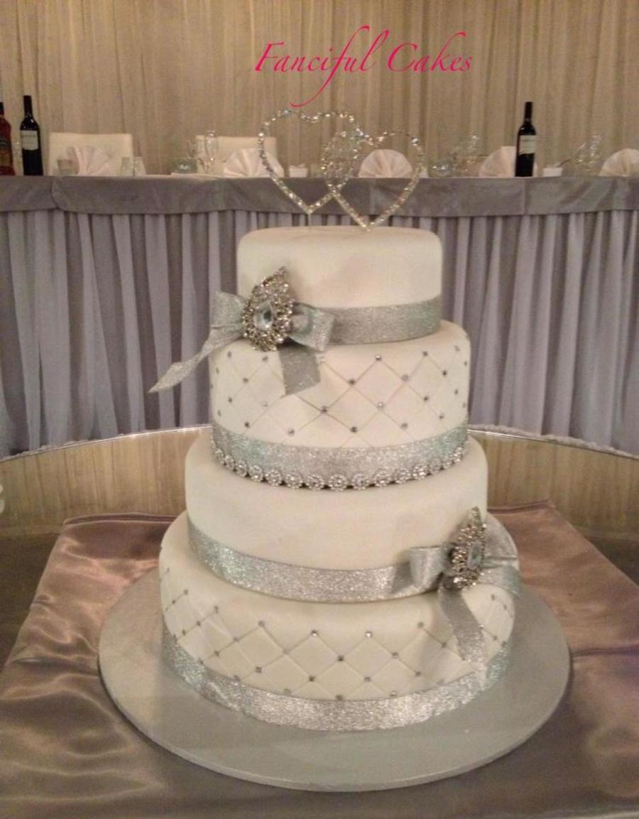 Tier Bling Wedding Cake