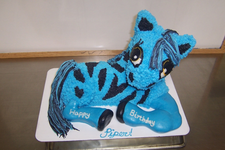 Zebra/pony Cake on Cake Central