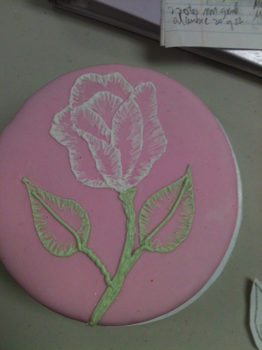 Embroidery Rose on Cake Central