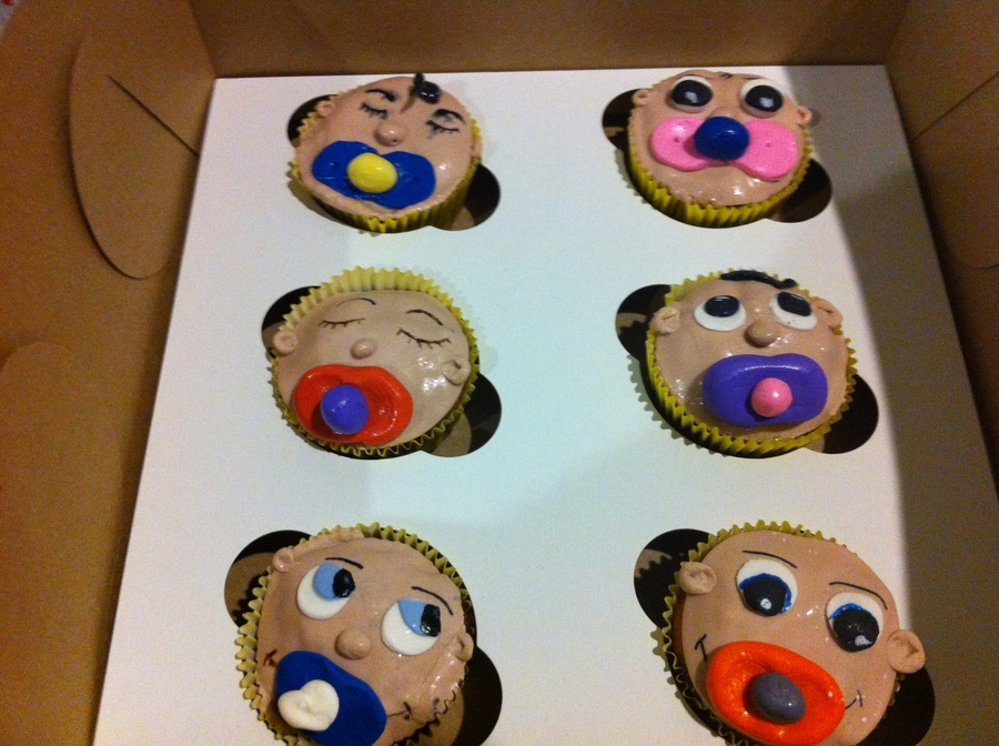 Pacifier Baby Cupcakes on Cake Central