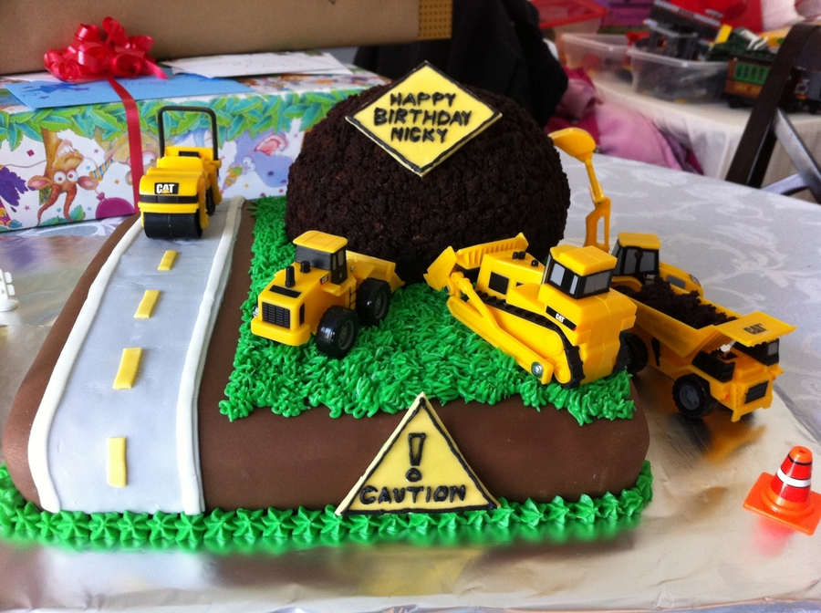 Construction Zone Truck Birthday Cake Cakecentral