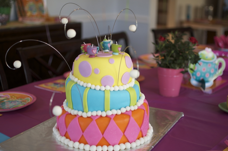 Mad Hatter Inspired Tea Party Birthday Cake Cakecentral