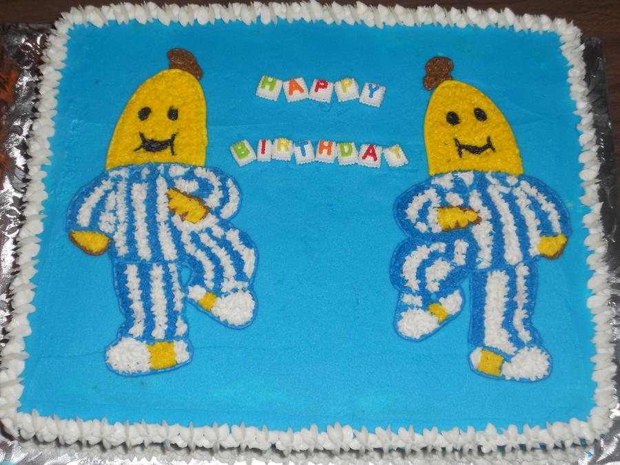 Bananas In Pajamas Birthday Cake