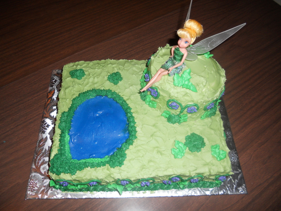Tinkerbell Birthday Cake  on Cake Central