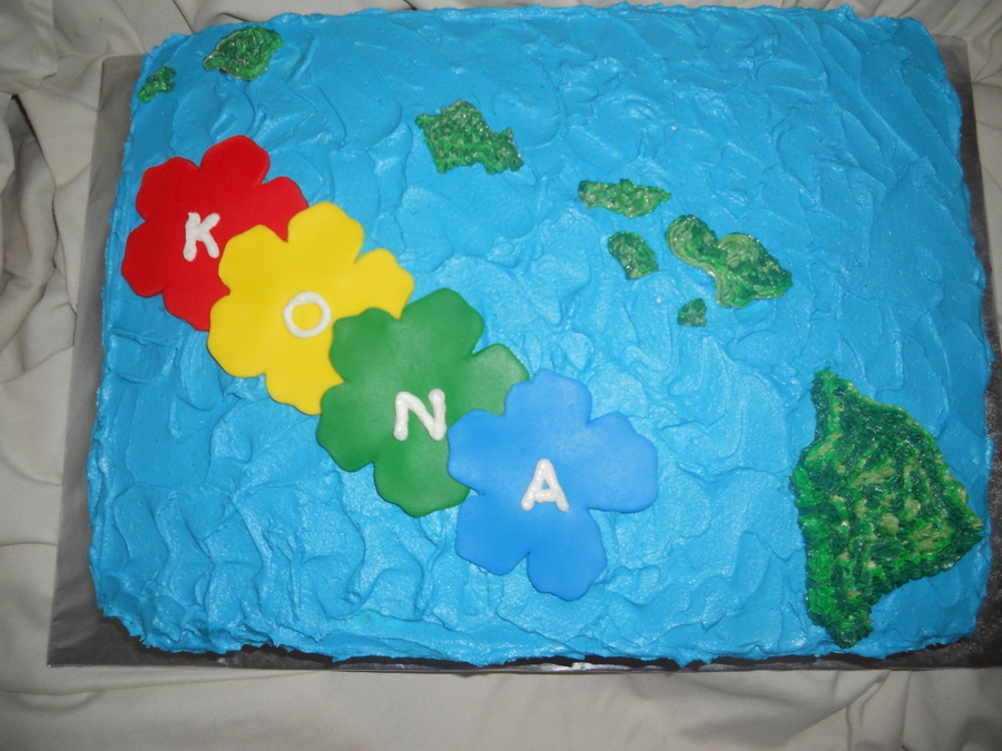 Hawaiin Island 1St Birthday Cake on Cake Central