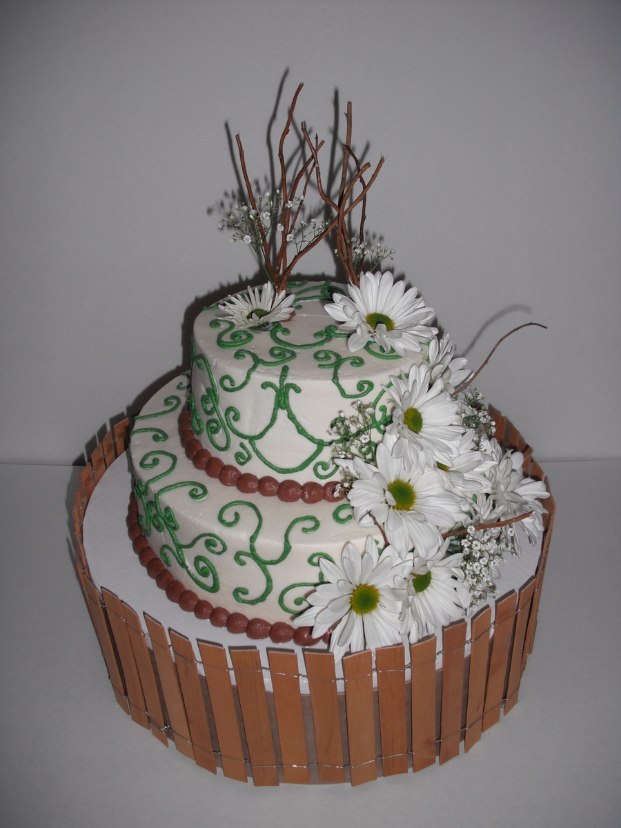 Rustic & Elegant Daisies on Cake Central