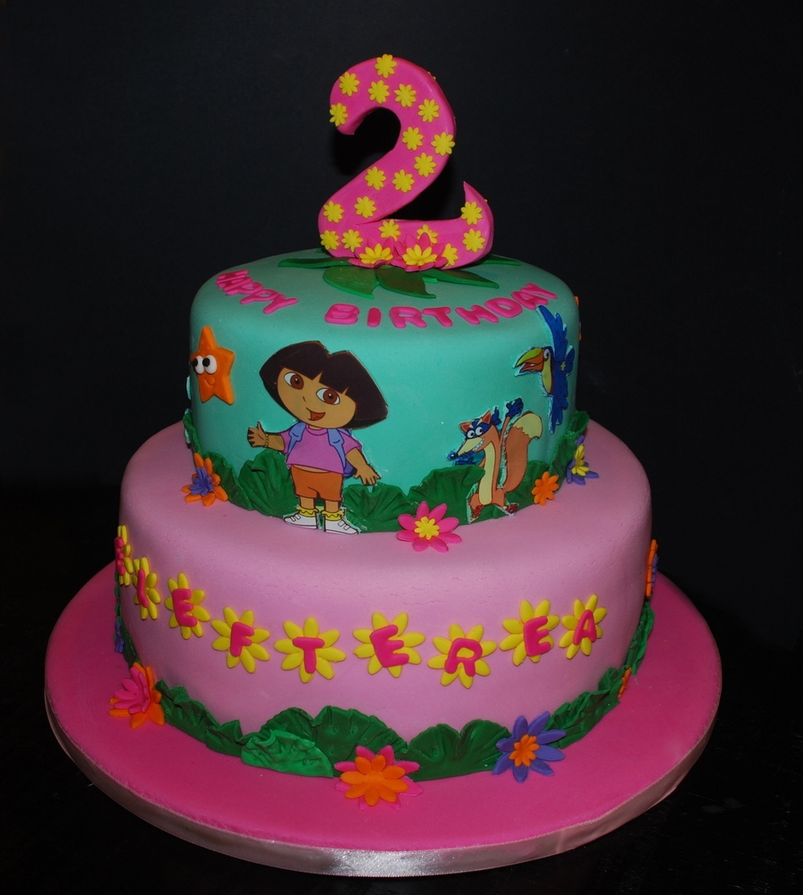 Incredible Dora The Explorer Birthday Cake Cakecentral Com Funny Birthday Cards Online Alyptdamsfinfo