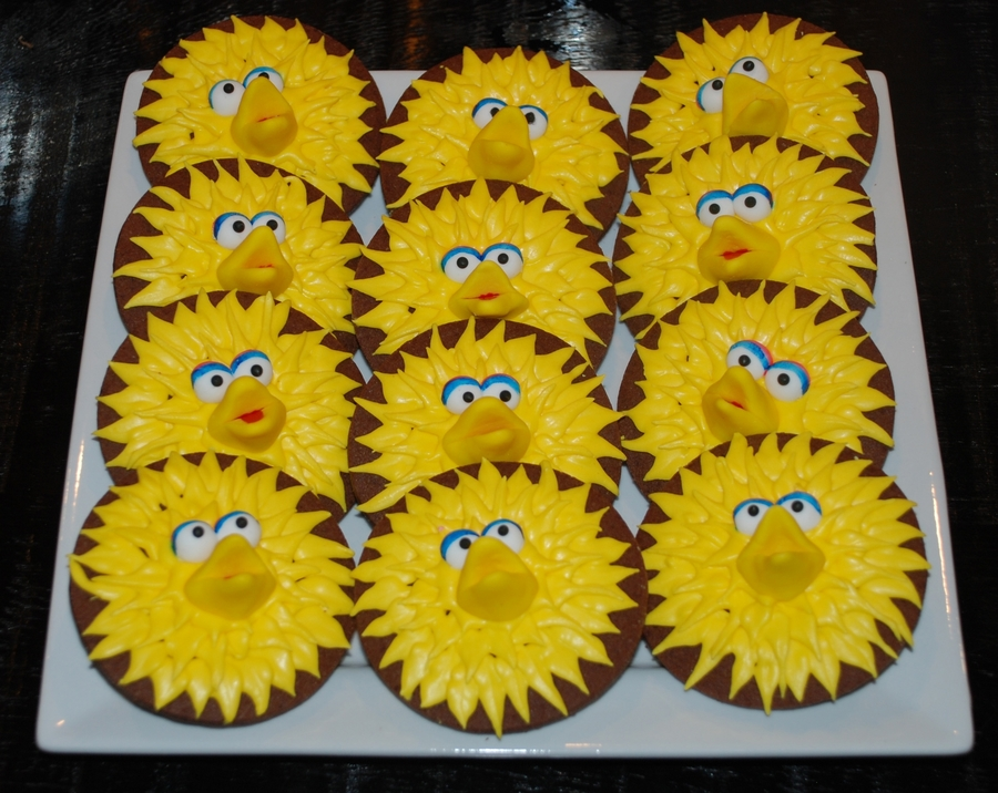 3D Big Bird Cookies on Cake Central