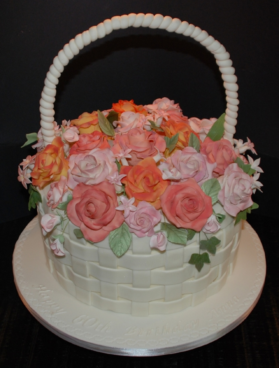 Basket Of Flowers Cake Cakecentral
