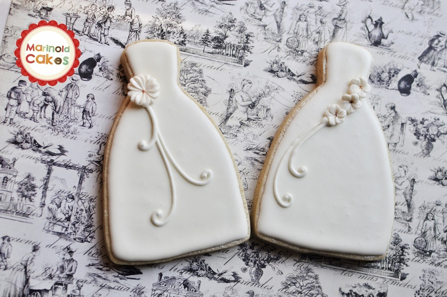 Wedding Gown Cookies - CakeCentral.com