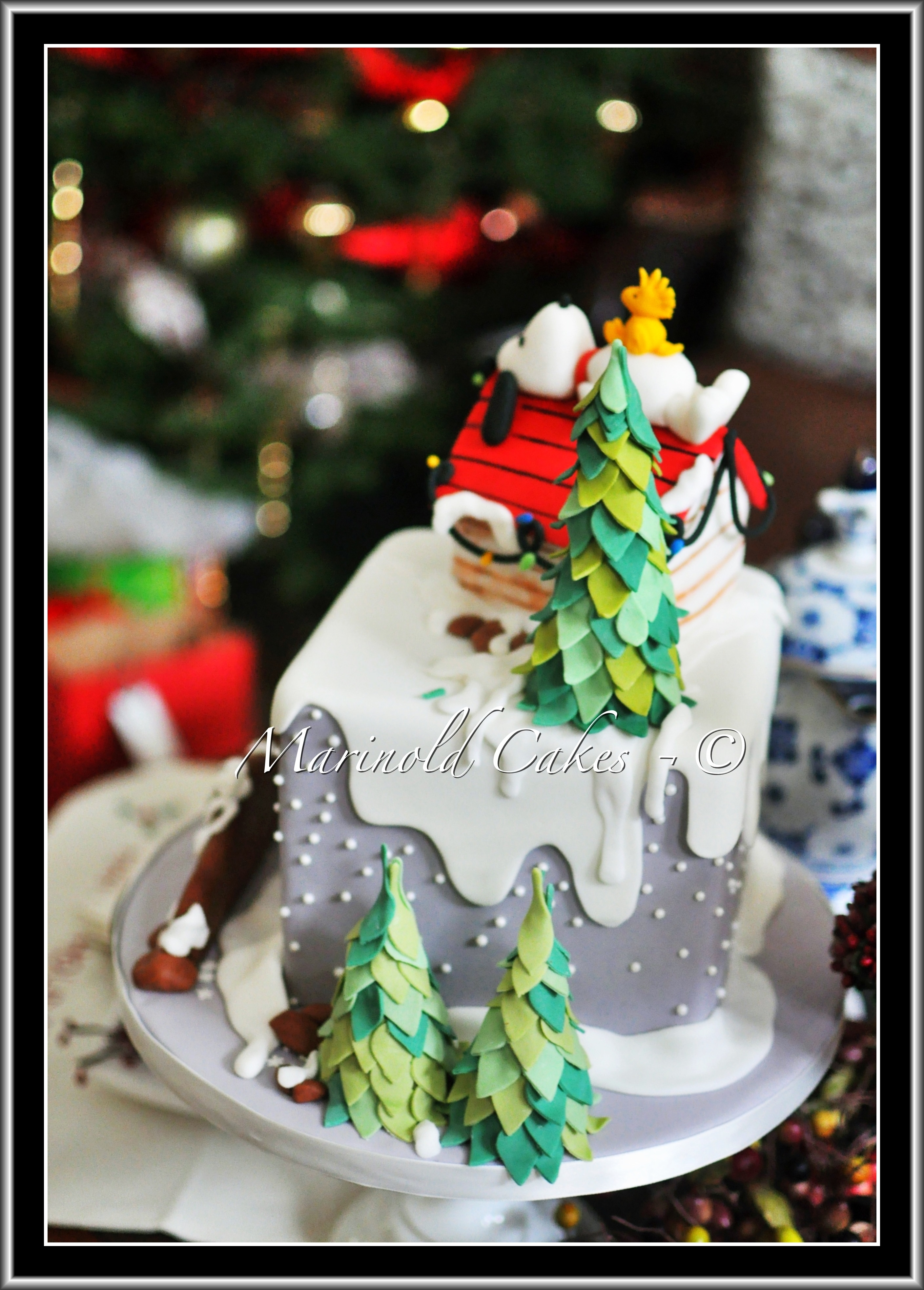 Snoopy And Woodstock In Winter Birthday Cake CakeCentralcom