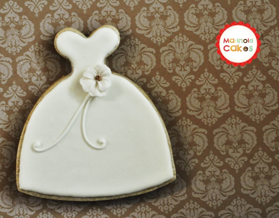 Wedding Gown Cookie - CakeCentral.com