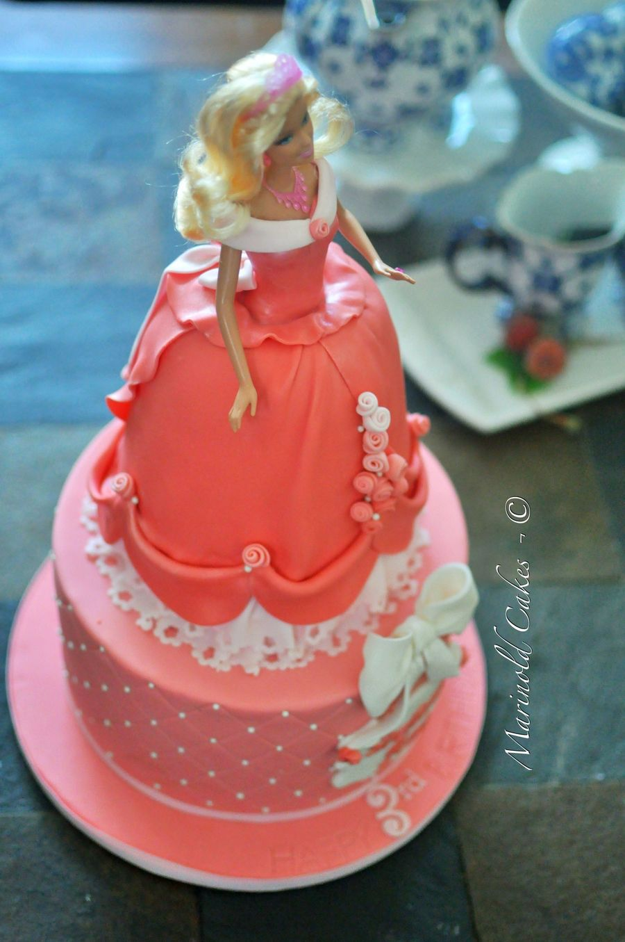 Excellent A Barbie Birthday Cake Cakecentral Com Funny Birthday Cards Online Alyptdamsfinfo
