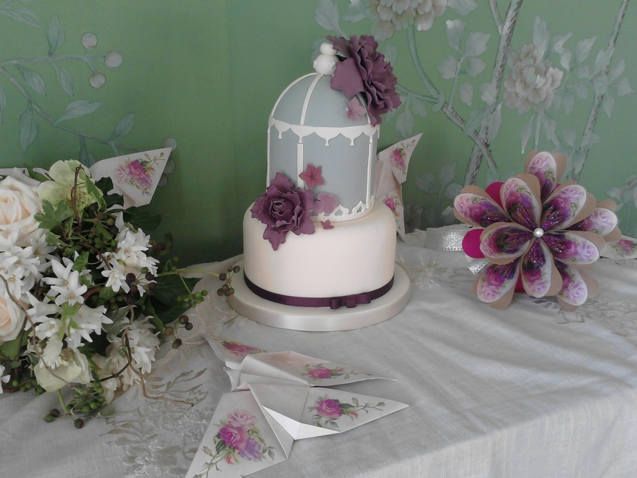 Bird Cage And Peony on Cake Central
