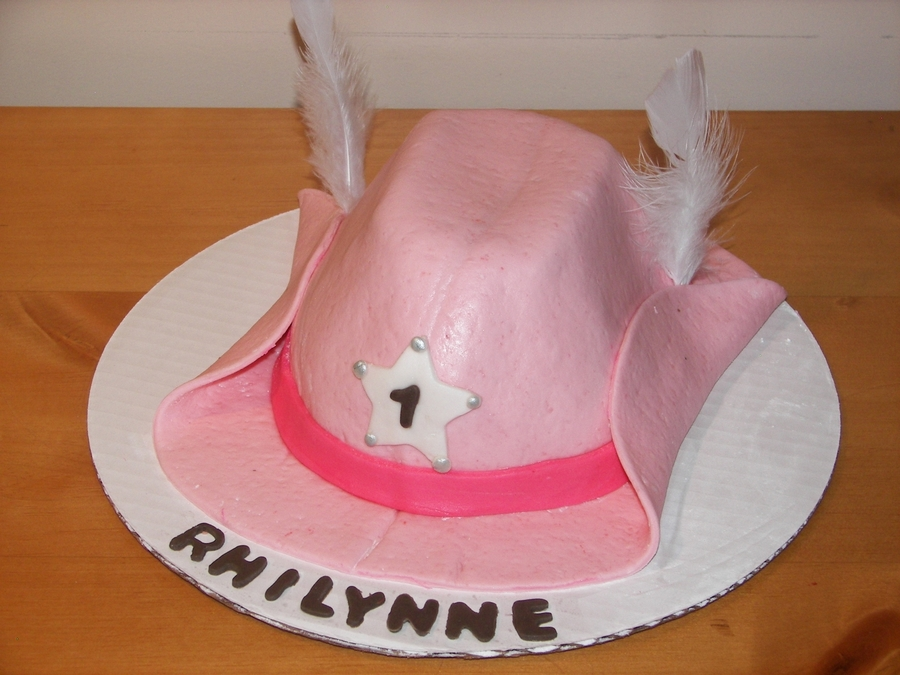 Cowgirl Western Hat  on Cake Central