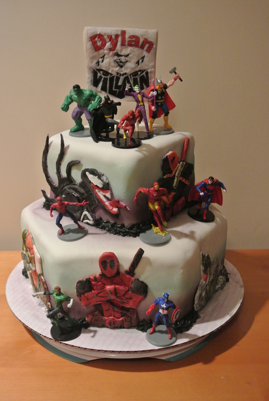 Marvel Vs Dc Comic CakeCentralcom