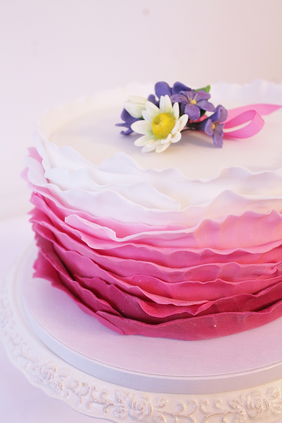 Ombre Ruffles Cake on Cake Central