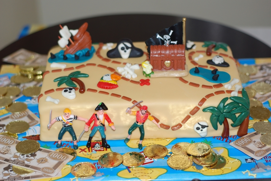 Pirate Map  on Cake Central