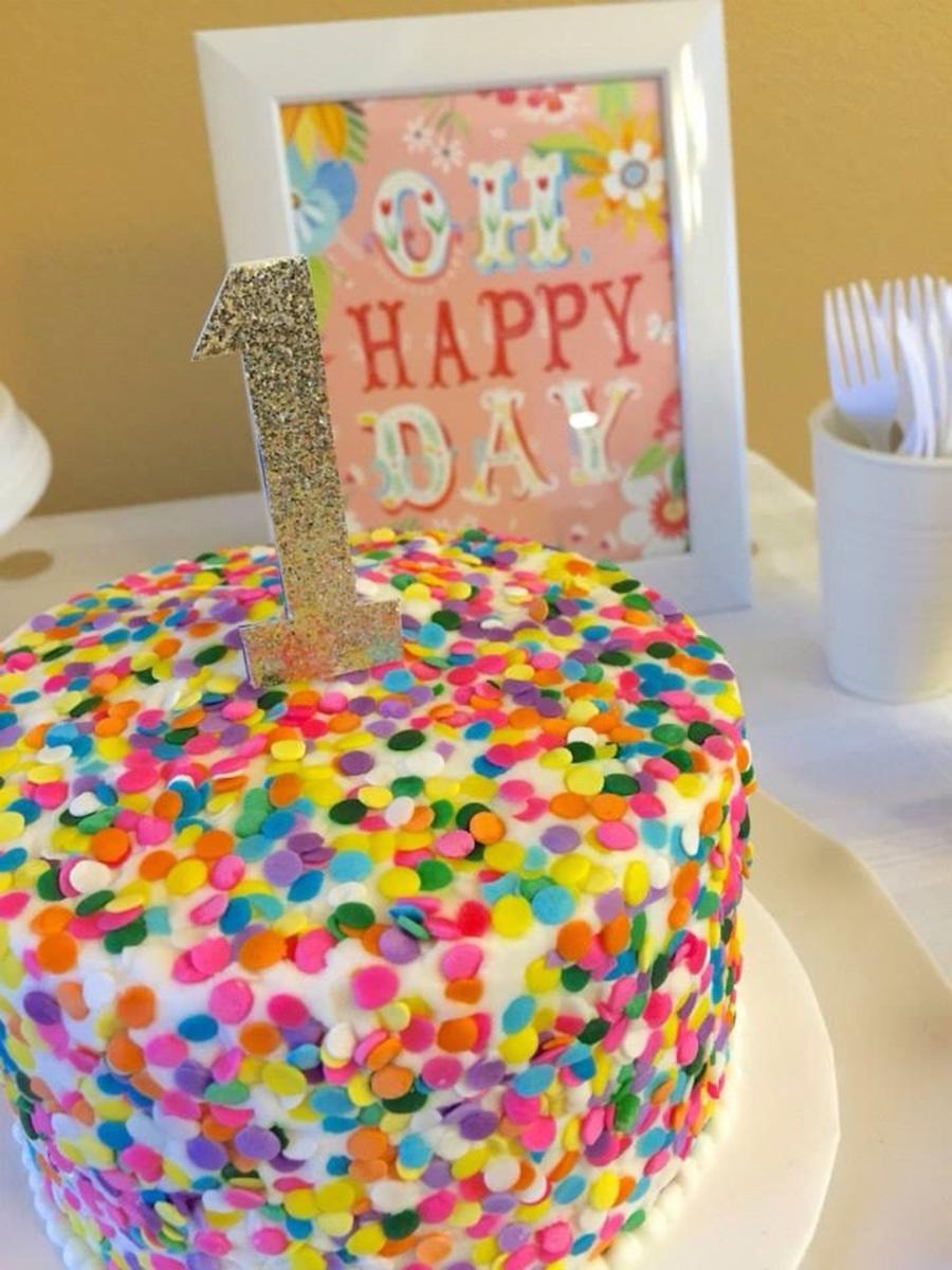 Winnies Smash Cake Vanilla Cake And Buttercream Frosting