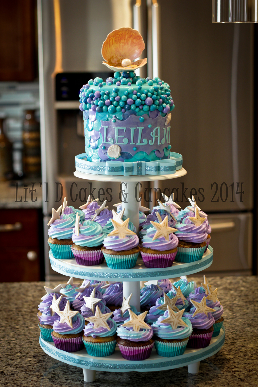 Under The Sea Cupcake Tower - CakeCentral.com