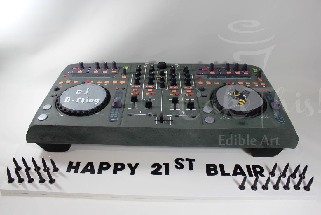 Dj Controller Birthday Cake CakeCentralcom