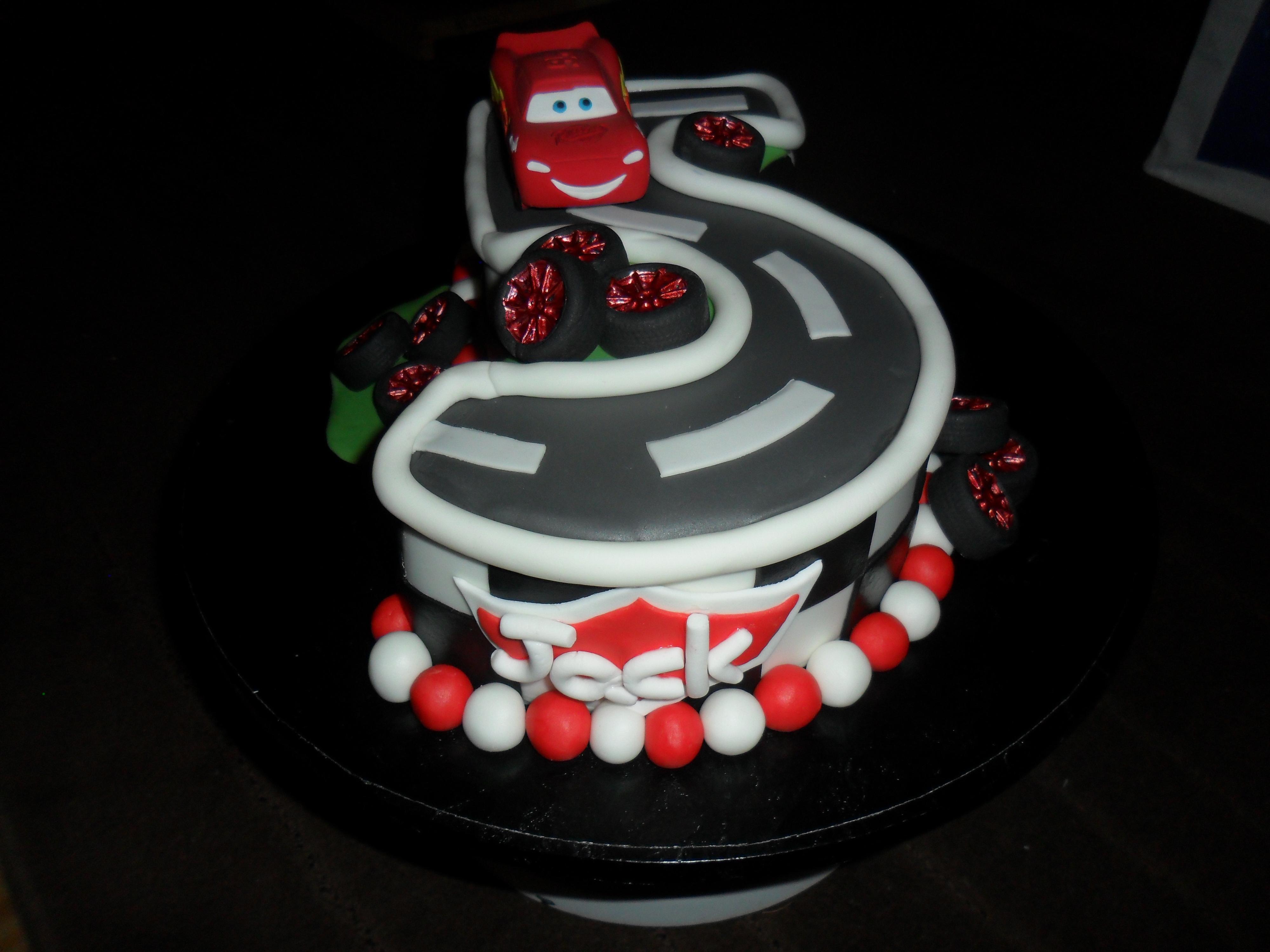 Walt Disney Cars No 5 Birthday Cake CakeCentralcom