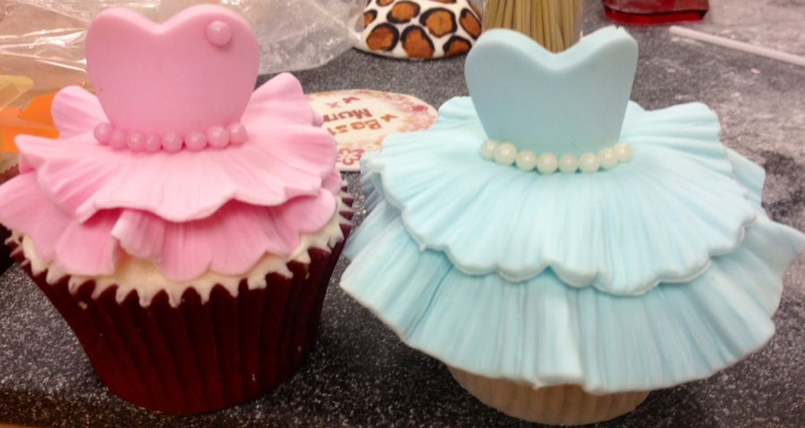 Pink Blue Princess Ball Gown Cupcakes on Cake Central