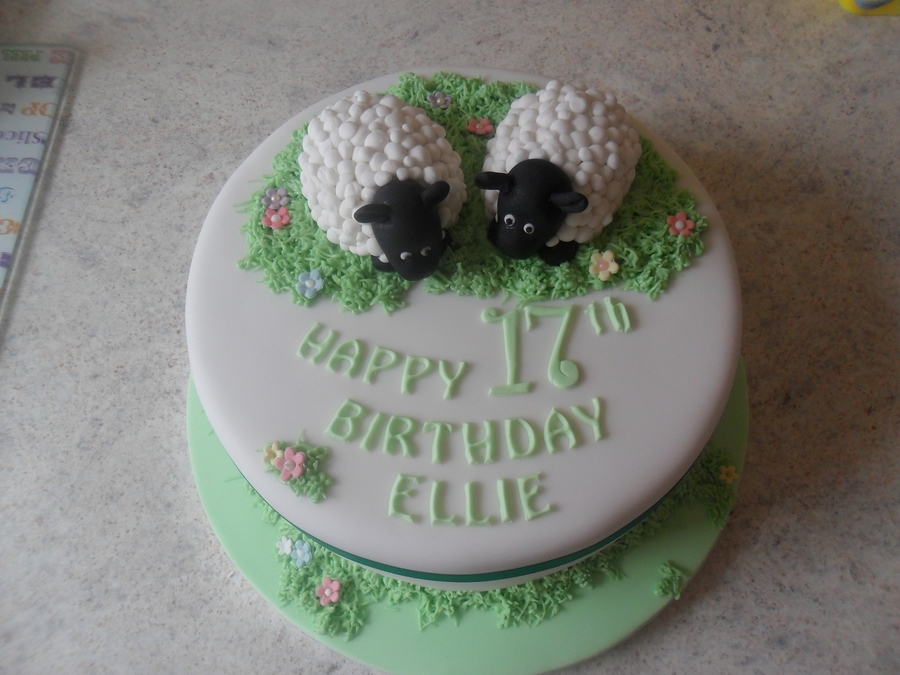 Fondant Sheep Birthday Cake Cakecentral