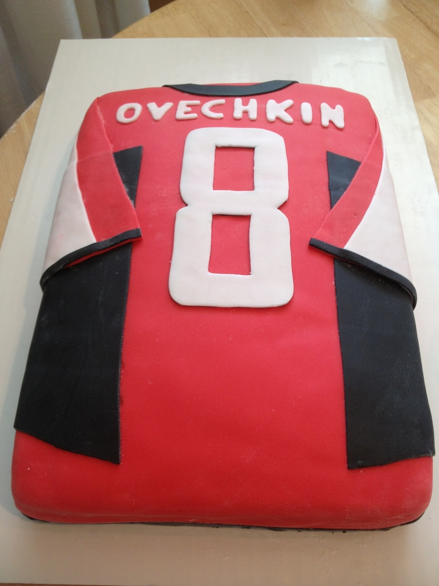 Hockey Ovechkin Jersey on Cake Central