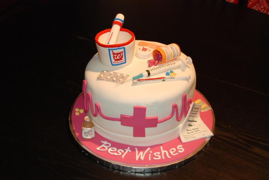 Birthday Cake For A Pharmacist