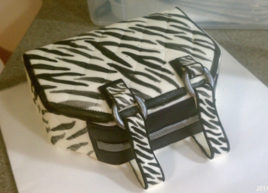 Zebra Purse Cake on Cake Central