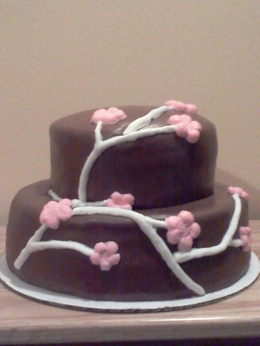 Chocolate Cherry Blossom on Cake Central