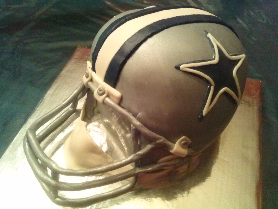 Dallas Cowboy Football Helmet Cake on Cake Central