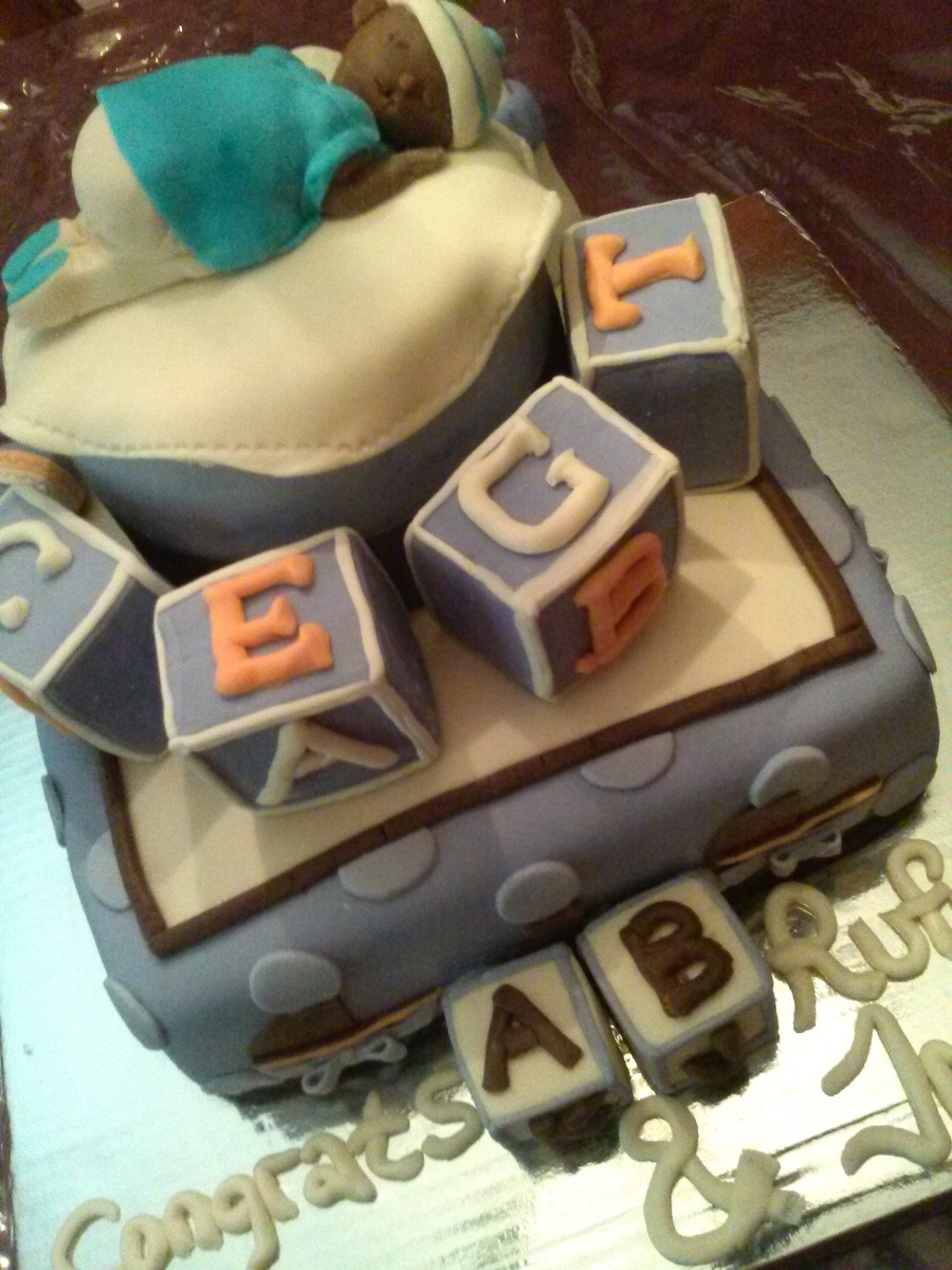 """baby Boy"" Baby Shower Cake! on Cake Central"