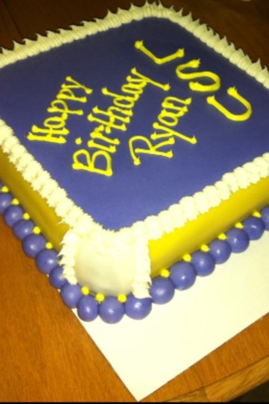Tremendous Lsu Birthday Cake Cakecentral Com Personalised Birthday Cards Veneteletsinfo