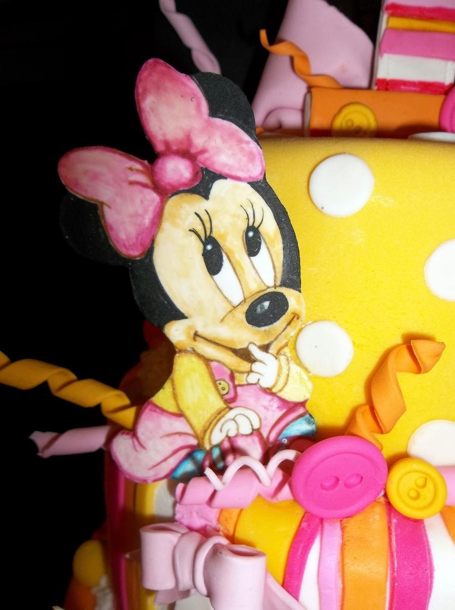 Baby Minnie First Birthday Cake Cakecentral Com