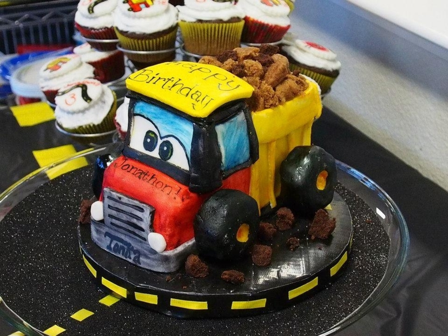 Gluten Free/dairy Free/egg Free Tonka Dump Truck Birthday Cake  on Cake Central