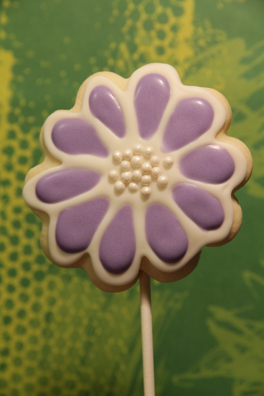 Flower Cookie Pop on Cake Central