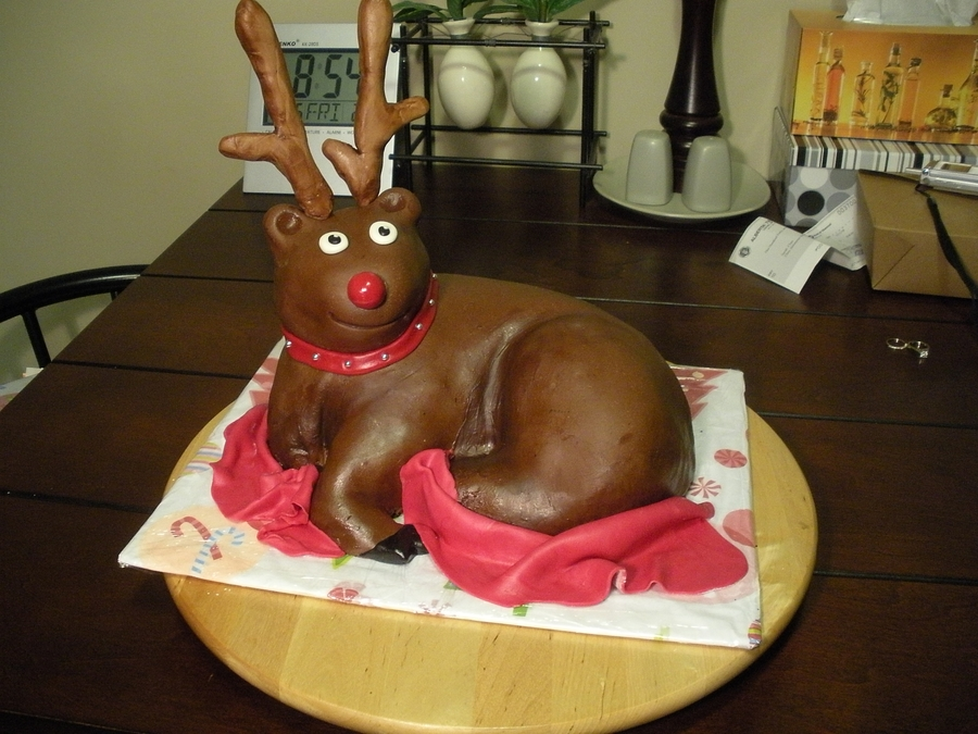 Christmas Reindeer on Cake Central