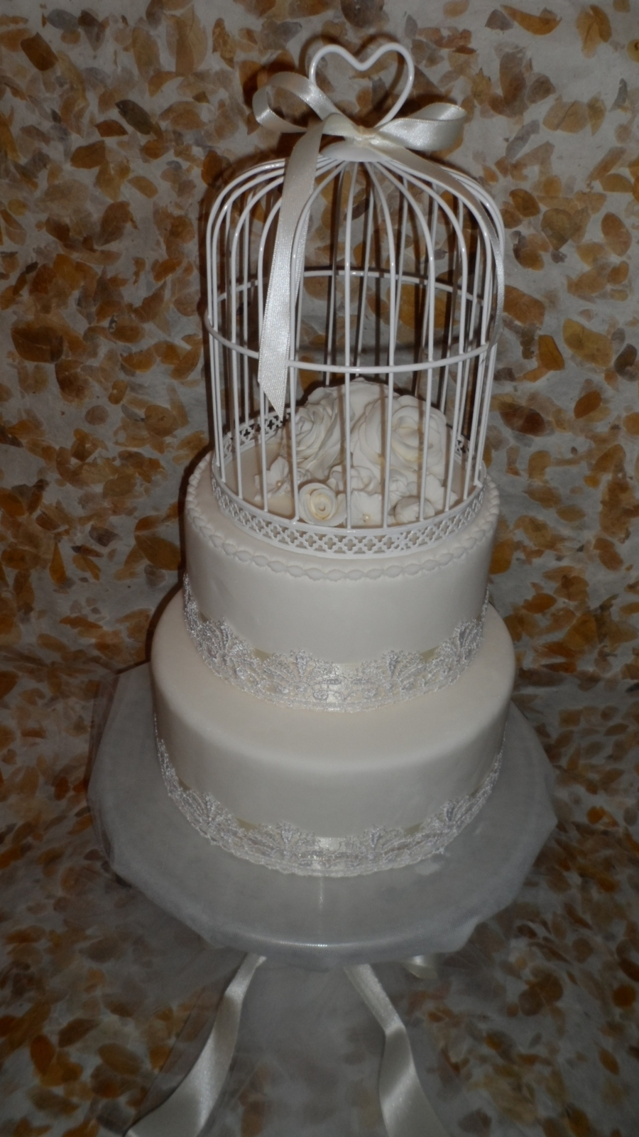 Vintage Wedding Cake on Cake Central