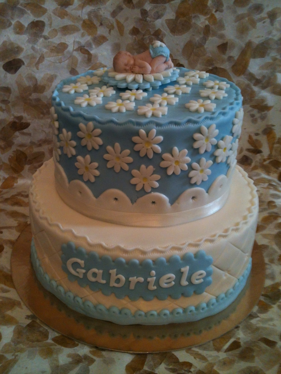Baptism Cake For Gabriele on Cake Central
