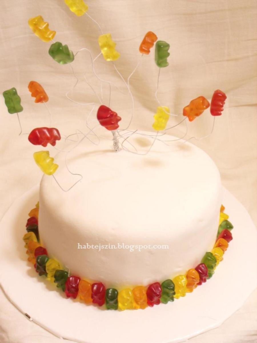 Gummy Bear Cake With Real Gummy Bears on Cake Central