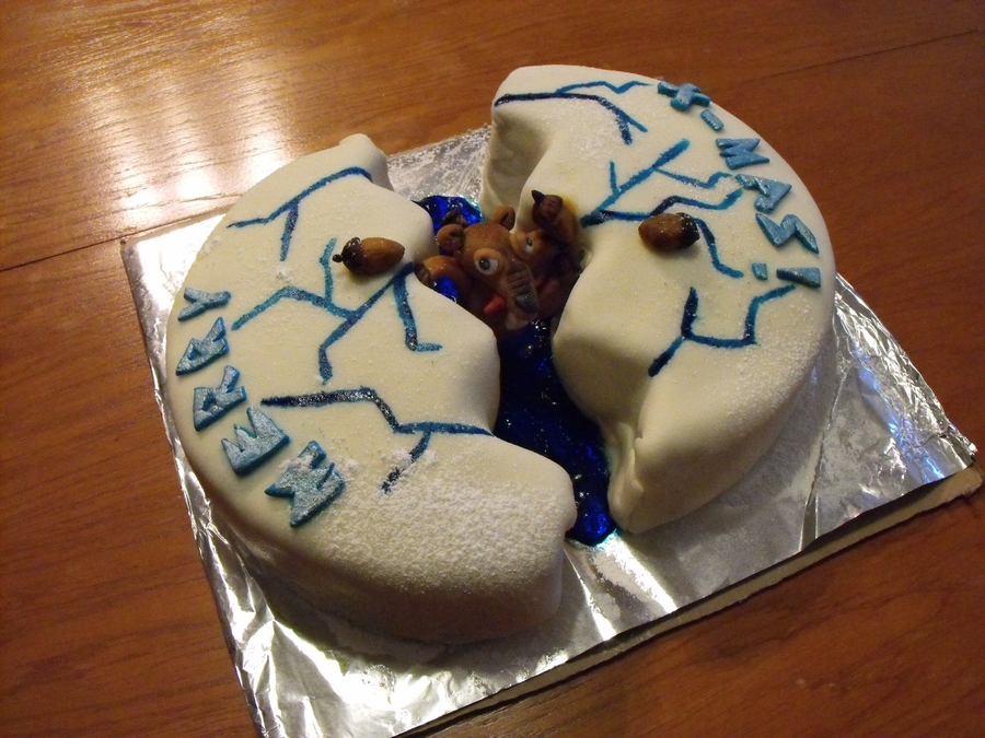 ice age cake with scrat  cakecentral