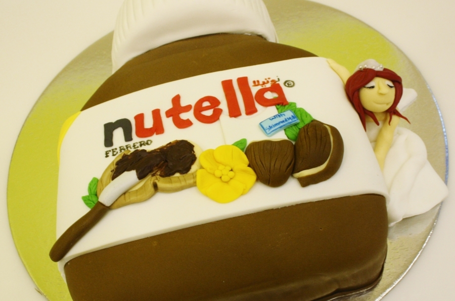 Nutella Loving Bride on Cake Central