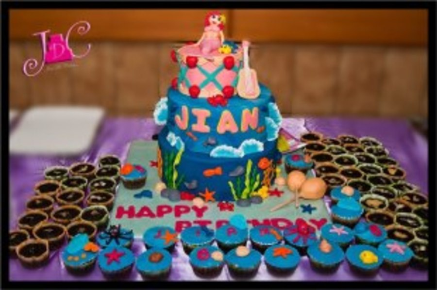 Ariel Mermaid Cake 1 on Cake Central
