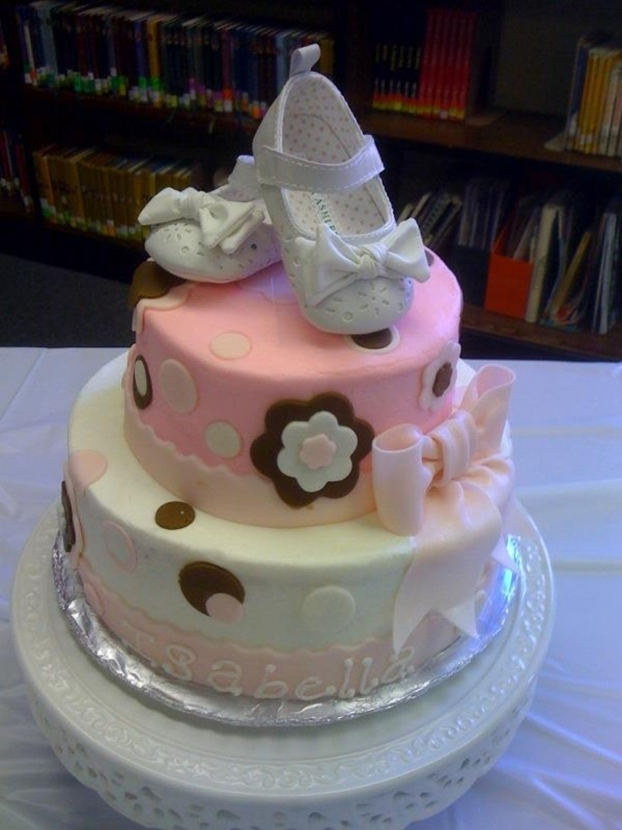 Isabella: Polka Dots & Bow on Cake Central