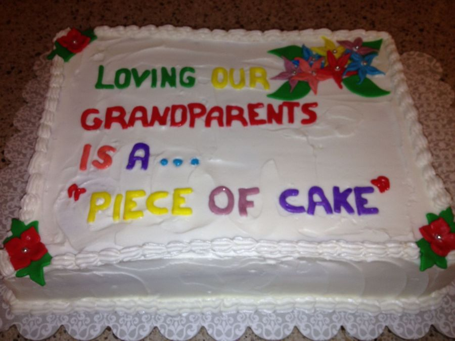 Grandparents Day on Cake Central